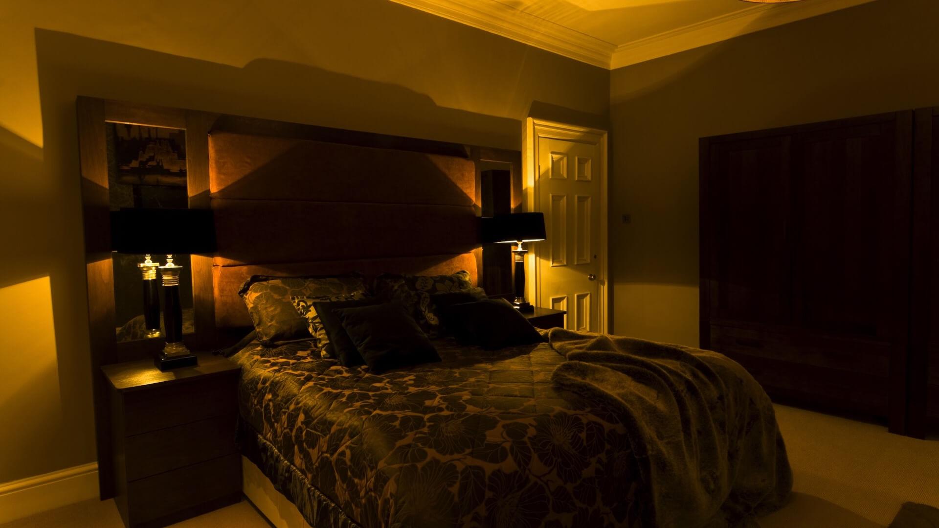 Mood Lighting Installation In Bedroom