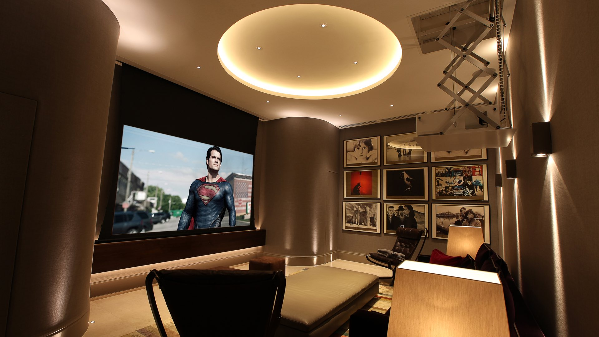 Bespoke Attic Home Cinema In London Installation